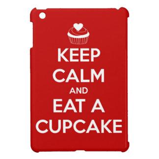 Keep Calm and Eat A Cupcake Red iPad Mini Cover