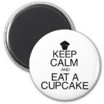 Keep Calm and Eat a Cupcake Refrigerator Magnet