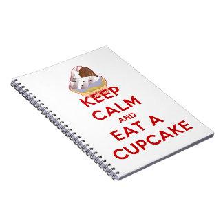 Keep Calm and Eat a Cupcake Spiral Notebook