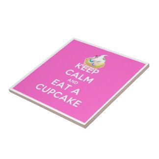 Keep Calm and Eat a Cupcake Tile