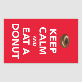 Keep calm and eat a donut sticker (customizable)