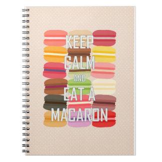 Keep Calm and Eat a Macaron Spiral Notebook