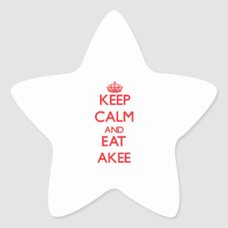 Keep calm and eat Akee Stickers