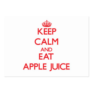 Keep calm and eat Apple Juice Large Business Cards (Pack Of 100)