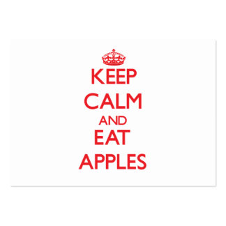 Keep calm and eat Apples Large Business Cards (Pack Of 100)