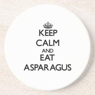 Keep calm and eat Asparagus Drink Coaster