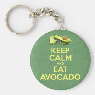 Keep Calm And Eat Avocado Keychain