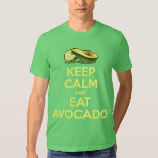 Keep Calm And Eat Avocado Tees