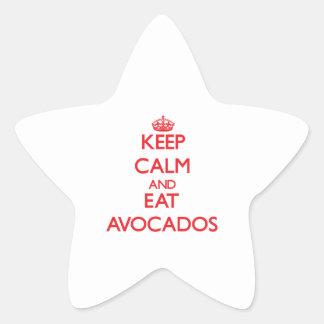 Keep calm and eat Avocados Sticker