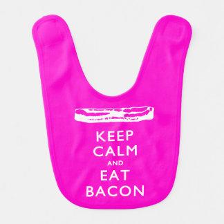 Keep Calm and Eat Bacon Bib