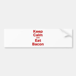 Keep Calm and Eat Bacon Bumper Sticker