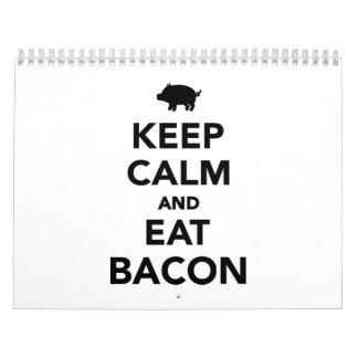 Keep calm and eat bacon calendar