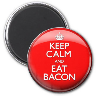Keep Calm and Eat Bacon (Carry On) Magnet