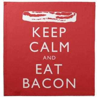 Keep Calm and Eat Bacon Cloth Napkin
