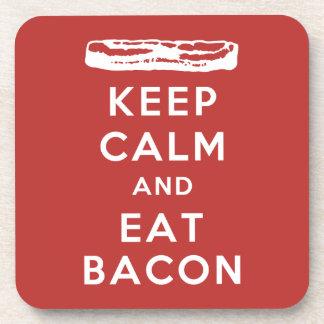 Keep Calm and Eat Bacon Coaster