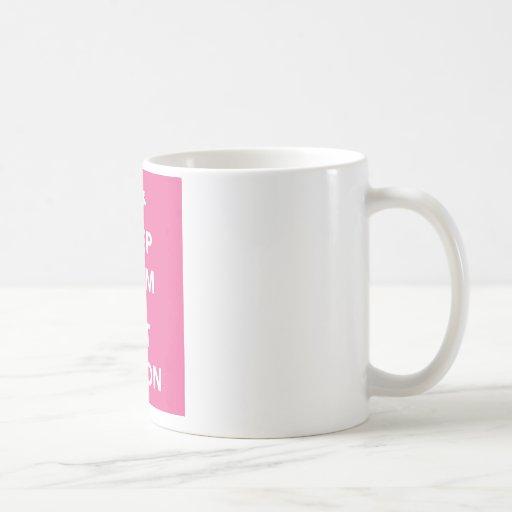 keep calm and eat bacon design gift mug