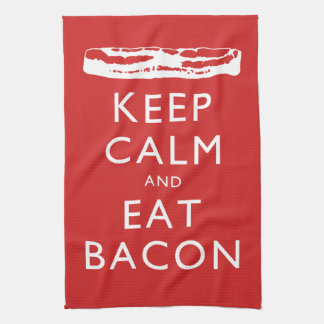 Keep Calm and Eat Bacon Kitchen Towels