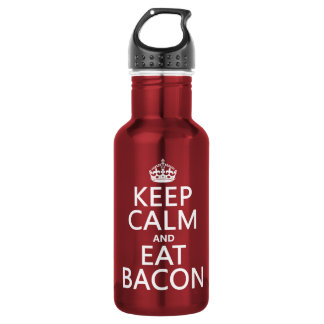 Keep Calm and Eat Bacon 18oz Water Bottle