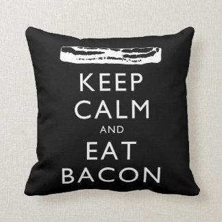 Keep Calm and Eat Bacon Pillows