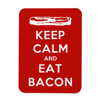 Keep Calm and Eat Bacon Rectangular Photo Magnet