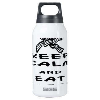 Keep Calm And Eat Bacon 10 Oz Insulated SIGG Thermos Water Bottle