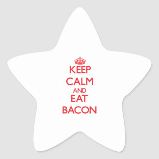 Keep calm and eat Bacon Star Sticker