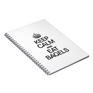 KEEP CALM AND EAT BAGELS SPIRAL NOTE BOOK