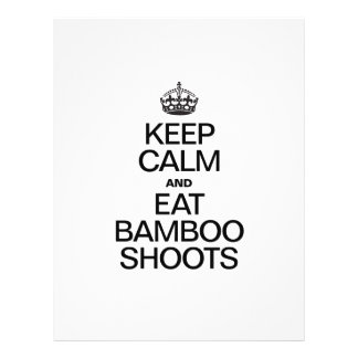 KEEP CALM AND EAT BAMBOO SHOOTS FLYER