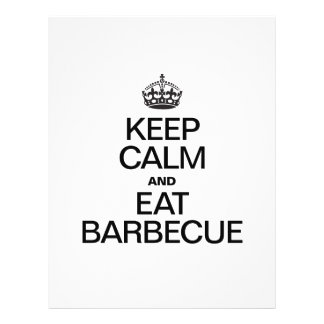 KEEP CALM AND EAT BARBECUE PERSONALIZED FLYER