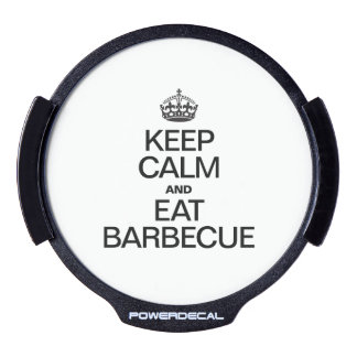 KEEP CALM AND EAT BARBECUE LED CAR DECAL