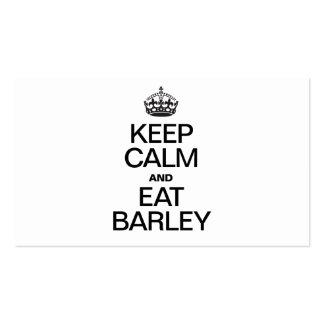 KEEP CALM AND EAT BARLEY BUSINESS CARD TEMPLATES
