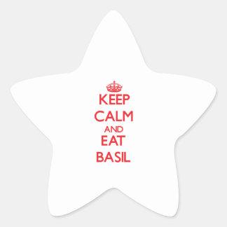 Keep calm and eat Basil Sticker