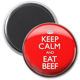 Keep Calm and Eat Beef (Carry On) Magnet
