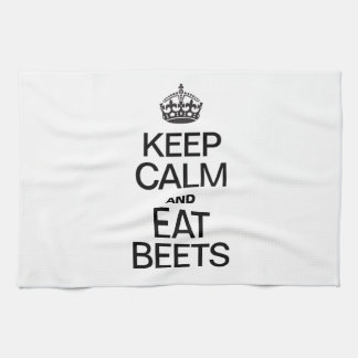 KEEP CALM AND EAT BEETS KITCHEN TOWEL