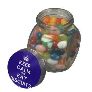 Keep Calm and Eat Biscuits Glass Jars