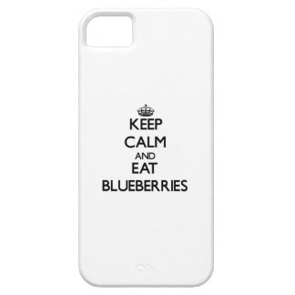 Keep calm and eat Blueberries iPhone 5 Cover