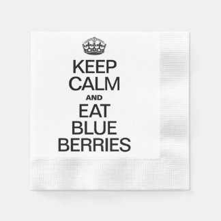 KEEP CALM AND EAT BLUEBERRIES DISPOSABLE NAPKINS