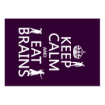 Keep Calm and Eat Brains (zombies) (any color) Business Card