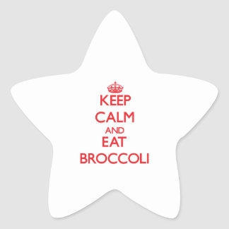 Keep calm and eat Broccoli Star Stickers