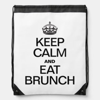 KEEP CALM AND EAT BRUNCH BACKPACK