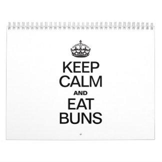 KEEP CALM AND EAT BUNS CALENDAR