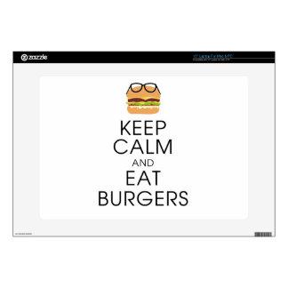 "Keep Calm And Eat Burgers 15"" Laptop Decal"