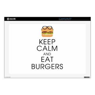 "Keep Calm And Eat Burgers 17"" Laptop Decal"
