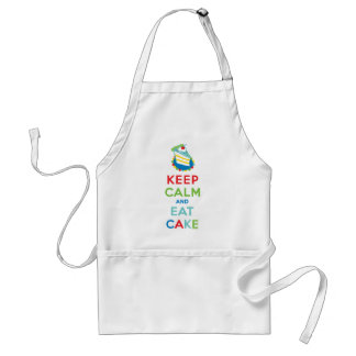 Keep Calm and Eat Cake Adult Apron