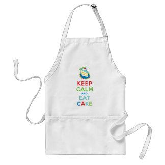Keep Calm and Eat Cake Adult Apron
