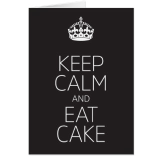 Keep Calm and Eat Cake Birthday Card