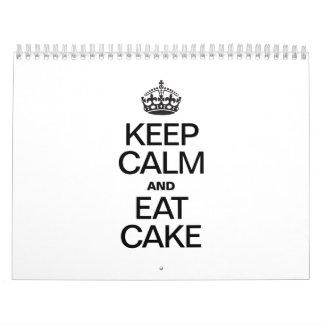 KEEP CALM AND EAT CAKE CALENDAR