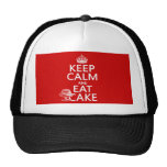 Keep Calm and Eat Cake (customize colors) Hat
