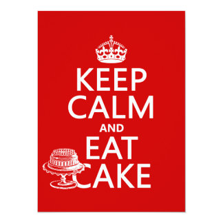 Keep Calm and Eat Cake (customize colors) Personalized Announcement