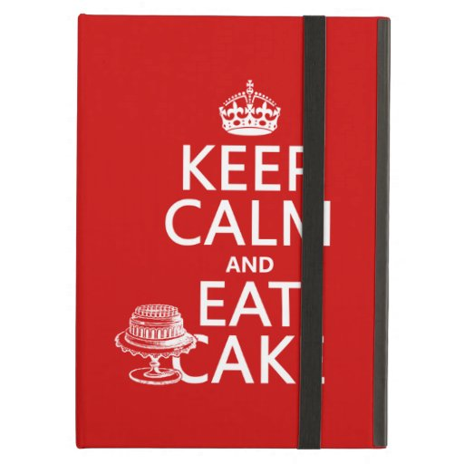 Keep Calm and Eat Cake (customize colors) iPad Cases